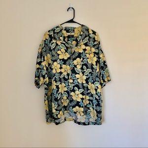Tommy Bahama Hawaiian Shirt Silk 100